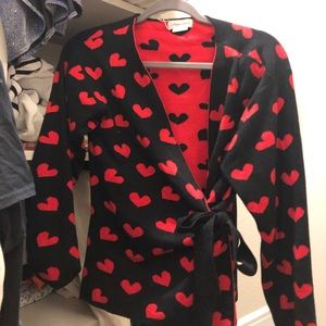 Lovers and Friends heart wrap sweater!
